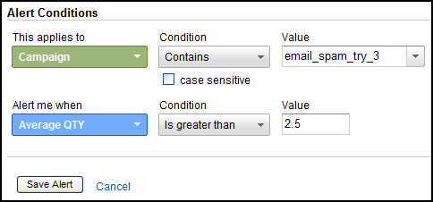 google analytics custom alerts campaign quality