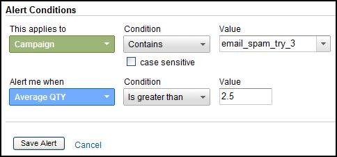 google analytics custom alerts campaign quality
