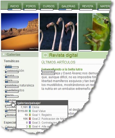 google analytics site overlay