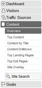 analytics menu google