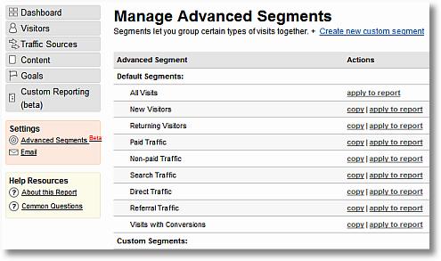 advanced segmentation in google analytics