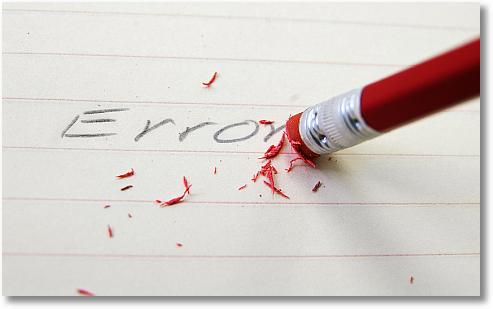 erase errors
