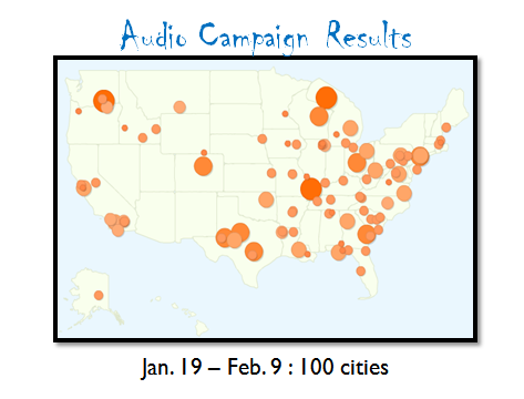 tracking audio campaigns geographic impact