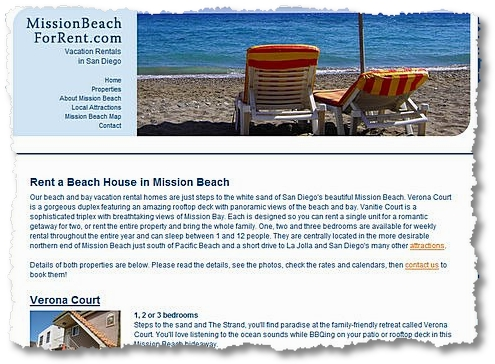 mission beach for rent