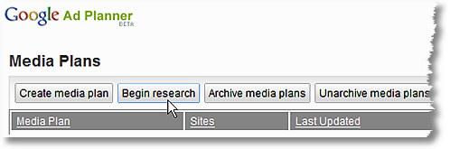 google ad planner tool