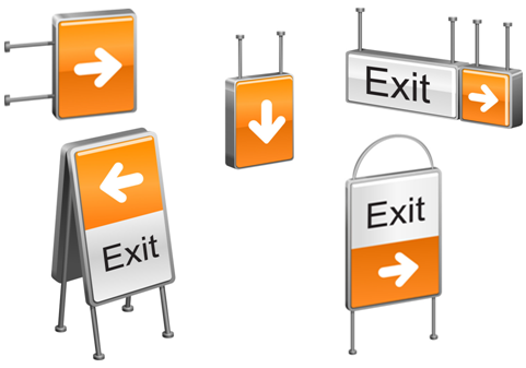 many exit signs
