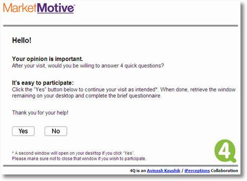 market motive iperceptions survey invite