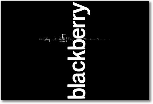 keyword tag cloud blackberry