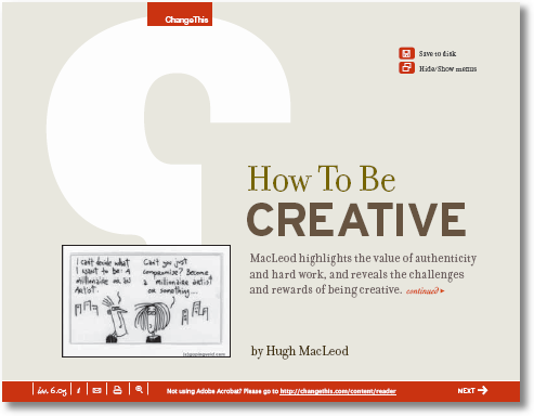 how to be creative macleod