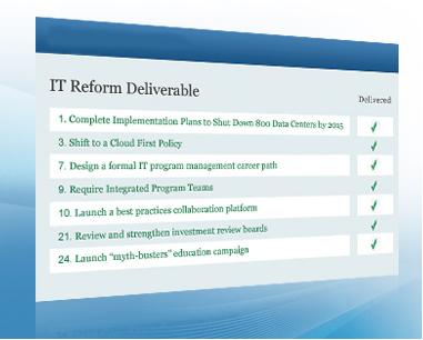 IT Reform Deliverables