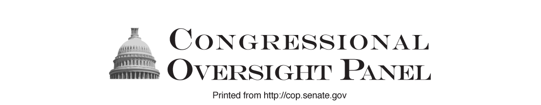 Congressional Oversight Panel; Printed from http://cop.senate.gov.