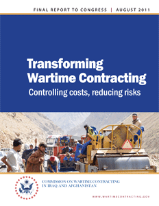 Commission on Wartime Contracting final report cover