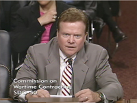September 16, 2010 hearing video. Screenshot of Senator Webb.