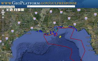 Map of the Gulf Coast Region