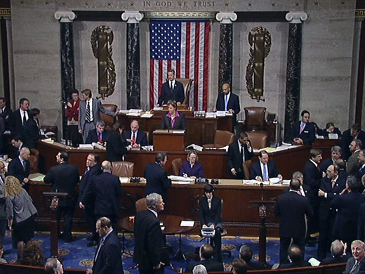 House chamber in session
