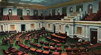 Postcard of the U.S. Senate Chamber