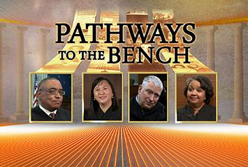 """The opening visual for the video series """"Pathways To The Bench""""."""