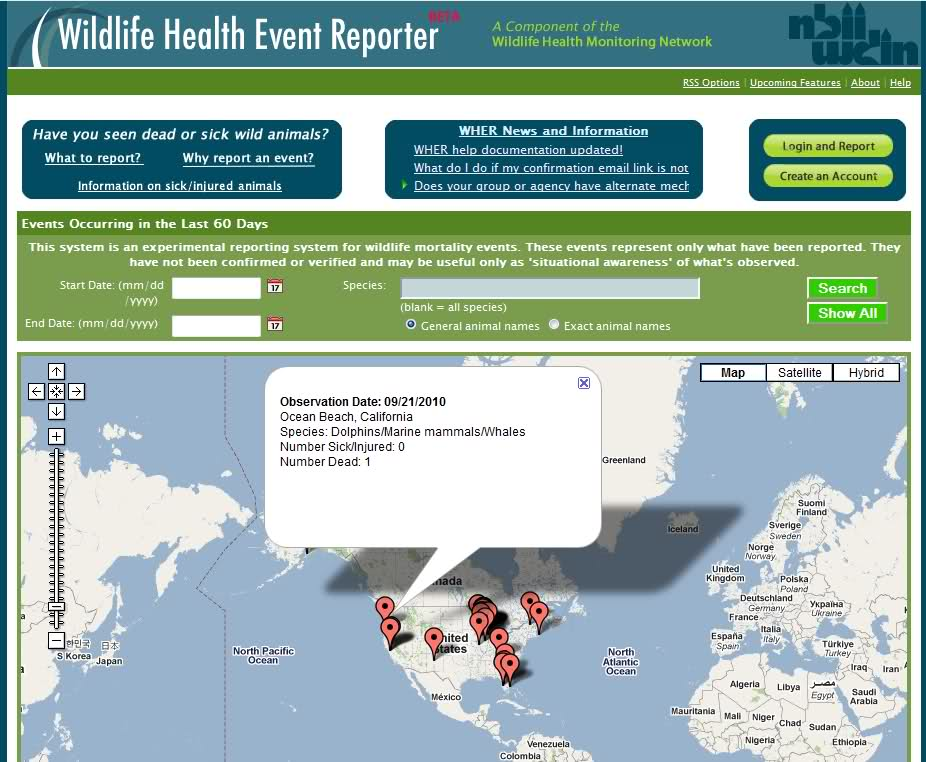 Wildlife Health Event Reporter
