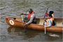 USACE Park Ranger Theodis Williams gives a canoe paddling class to a group of DC Middle School students participating in the Wilderness Inquiry National School Program on the Potomac River.