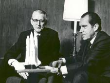 President Richard M. Nixon and Dr. James C. Fletcher, NASA Administrator