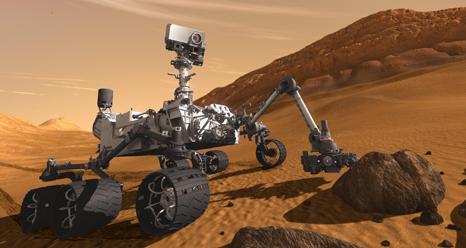 Artist concept features NASA's Mars Science Laboratory Curiosity rover