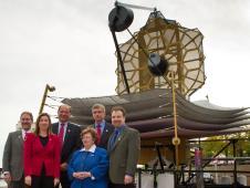 From left, back row are Dr. John Grunsfeld, Jeffrey Grant, Van Reiner and Adam Reiss. In the front row are NASA Deputy Administrator Lori Garver, left, and U.S. Senator Barbara Mikulski (D-Md.).
