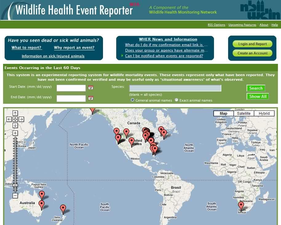 Wildlife Health Event Reporter