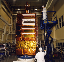 Technicians work on RXTE in 1995