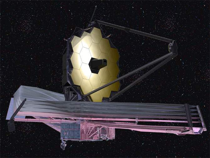 September 2009 artist conception of the James Webb Space Telescope.