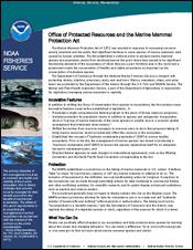 MMPA Fact Sheet cover