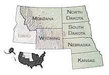Map of MPIN states: Montana, Wyoming, Kansas, Nebraska, North Dakota, South Dakota