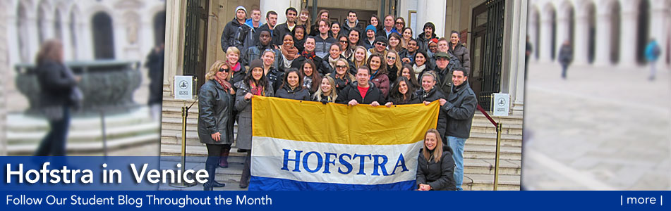 Hofstra in Venice - Follow Our Student Blog Throughout the Month - more