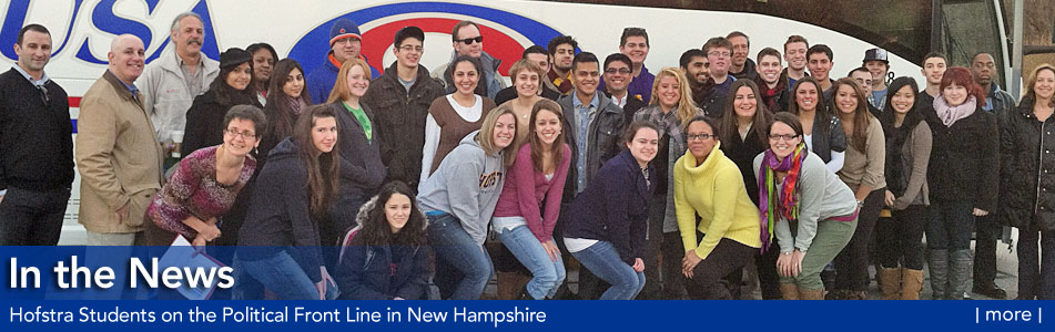 In the News  - Hofstra Students on the Political Front-Line in N.H. - more