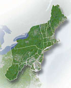 Map of the Northeast US