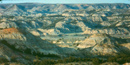 The Little Missouri River has carved the badlands over the last 600,000 years.