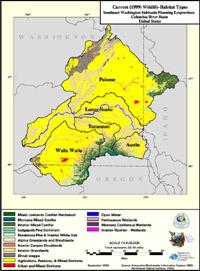 Southeast Washington Current Wildlife Habitat Type Map