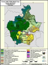 Columbia Gorge Current Wildlife Habitat Type Map