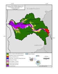 Columbia River Estuary Current Wildlife Habitat Type Map