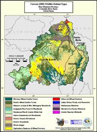 Blue Mountains Current Wildlife Habitat Type Map