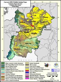 Columbia Plateau Current Wildlife Habitat Type Map
