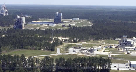 Aerial view of Stennis Space Center