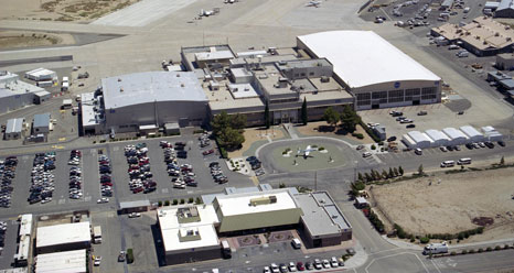 Aerial view of Dryden Flight Research Center