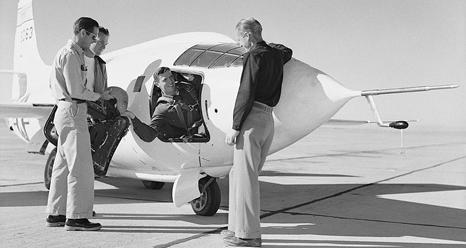 test pilot John Griffith in X-1