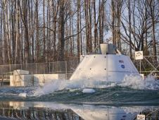 Orion drop test at Hydro Impact Basin