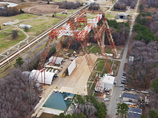 Overhead view of Hydro Impact Basin