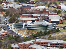 aerial photo of NASA Langley Research Center