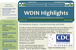Image of an issue of WDIN Highlights on-line news bulletin