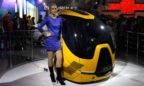 GM's Chevrolet EN-V electric concept car