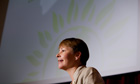 Caroline Lucas addressing Green party conference