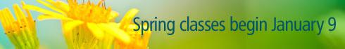 Classes begin Monday January 9